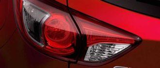 Замена ламп в задней фаре Mazda CX-5